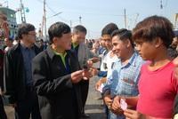 ภาพ ก แรงงาน ตรวจจับแรงงานประมงที่ชลบุรี